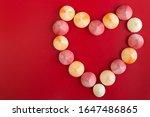 meringue kisses in a heart... | Shutterstock . vector #1647486865