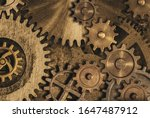 Old Gears And Cogs Clock...