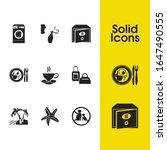 hostel icons set with washing...