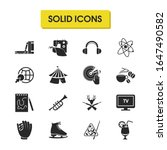 activity icons set with book...