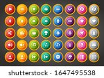 colorful round ui game buttons...