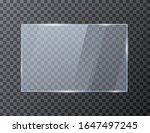 empty rectangle glass banner.... | Shutterstock .eps vector #1647497245