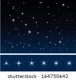 set of various glittering stars ... | Shutterstock .eps vector #164750642