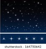 set of various glittering stars ... | Shutterstock .eps vector #164750642