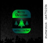 merry christmas card  ... | Shutterstock .eps vector #164752256