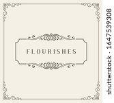 flourishes frame. vintage...   Shutterstock .eps vector #1647539308
