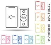 mobile banking in multi color...