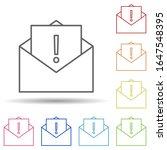 notice in an envelope in multi...
