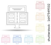 colored landing page in multi...