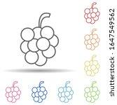 grapes in multi color style...