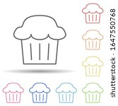 cup cake in multi color style...
