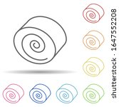 rolls in multi color style icon....