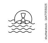 radiation sign  sea icon....