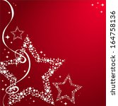 Christmas Stars Red Background