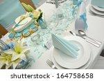 elegant wedding decoration in...   Shutterstock . vector #164758658