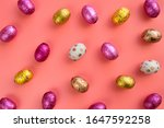 rainbow colored easter eggs... | Shutterstock . vector #1647592258