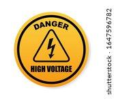 danger sign  warning sign  high ...   Shutterstock .eps vector #1647596782