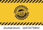 anxiety grunge black emblem... | Shutterstock .eps vector #1647675802
