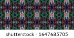 watercolor ethnic design. kilim ... | Shutterstock . vector #1647685705