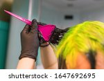 self dyeing hair process using... | Shutterstock . vector #1647692695