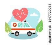 ambulance car vector... | Shutterstock .eps vector #1647720085