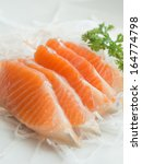 salmon sashimi | Shutterstock . vector #164774798