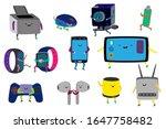 cute gadgets cartoon characters ... | Shutterstock .eps vector #1647758482