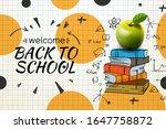 welcome back to school web... | Shutterstock .eps vector #1647758872