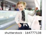 little red hair girl in white... | Shutterstock . vector #164777138