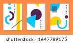 vector bright set of abstract... | Shutterstock .eps vector #1647789175