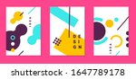 vector bright abstract set of... | Shutterstock .eps vector #1647789178