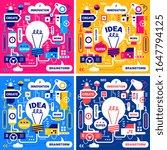 vector set of creative business ... | Shutterstock .eps vector #1647794125