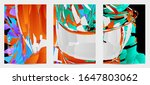 abstract flyer template with... | Shutterstock .eps vector #1647803062