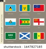 postage stamp with flag ...   Shutterstock .eps vector #1647827185