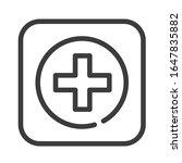 health care black line icon....