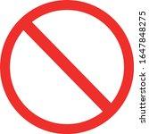 red forbidden sign vector ...   Shutterstock .eps vector #1647848275