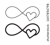 hand drawn infinity symbol with ...   Shutterstock .eps vector #1647856798