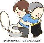 caretaker supporting old man... | Shutterstock .eps vector #1647889585