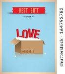 best gift ever   love | Shutterstock .eps vector #164793782