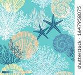 marine vector hand drawn... | Shutterstock .eps vector #1647958075
