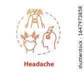 headache concept icon. anxiety... | Shutterstock .eps vector #1647973858