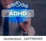 word writing text adhd.... | Shutterstock . vector #1647985405