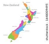 new zealand map  administrative ...   Shutterstock .eps vector #1648009495