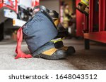 Firefighter's Shoes And Pants...