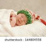 Healthy Newborn Baby Smiling I...