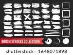 collection of white paint brush ... | Shutterstock .eps vector #1648071898