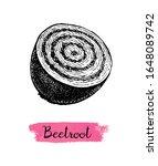 half beetroot. ink sketch... | Shutterstock .eps vector #1648089742