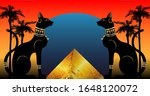 egyptian cats and antique... | Shutterstock .eps vector #1648120072