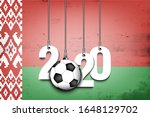 figures 2020 and soccer ball... | Shutterstock .eps vector #1648129702