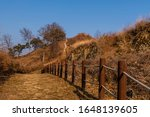 Rope Fence Next To Hiking Trai...